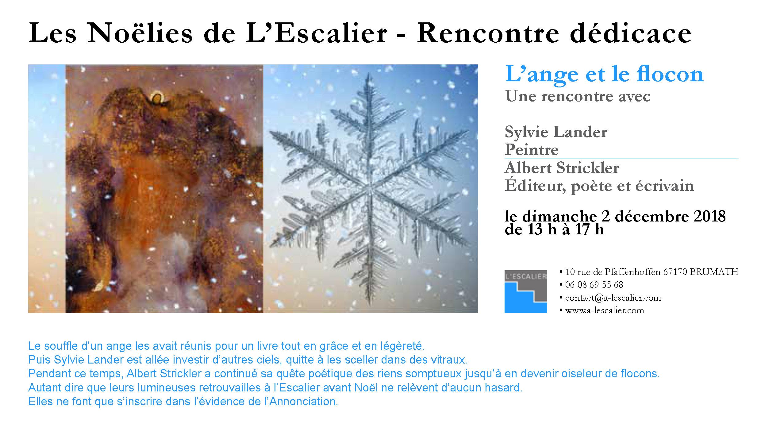 Les Noëlies de L'Escalier - Rencontre dédicace Sylvie Lander et Albert Strickler