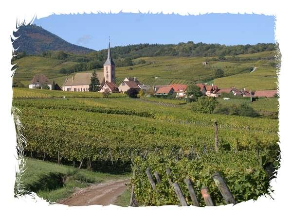 Le village de Blienschwiller qui accueil les Editions du Tourneciel.